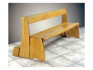 Ecclesia, Contemporary bench in solid wood for churches