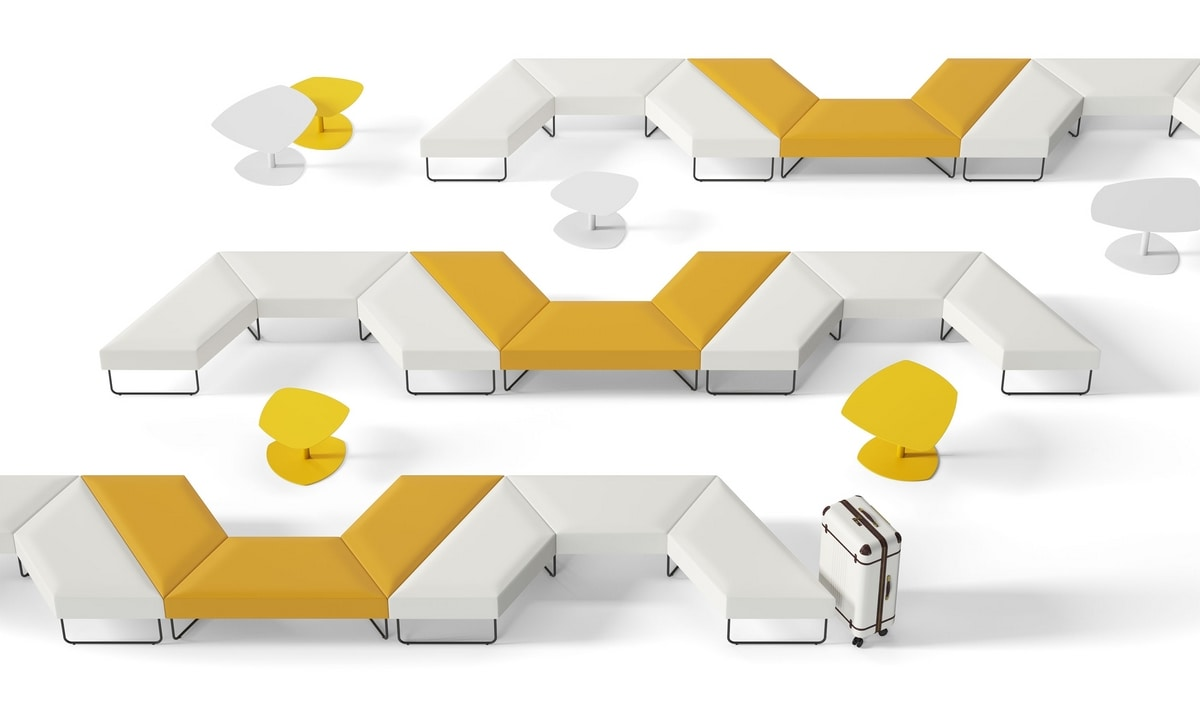 FORMAT, Modular upholstered seats for waiting rooms