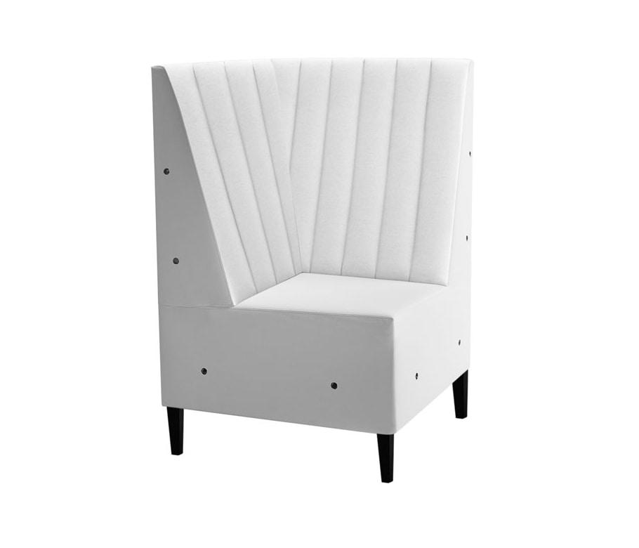 Linear 02455R, Corner element for modular bench