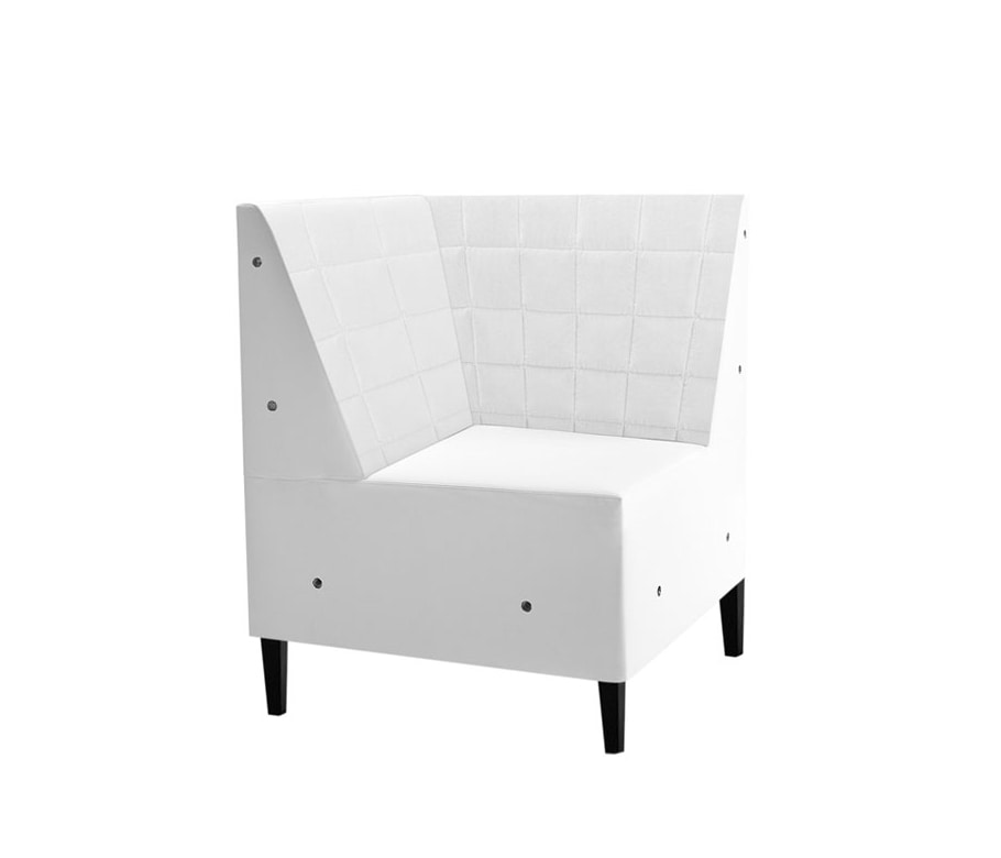 Linear 02456Q, Modular bench with low backrest