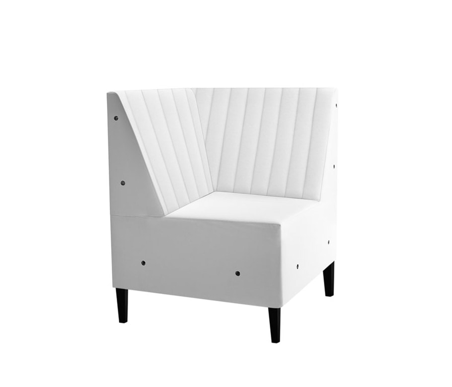 Linear 02456R, Modular bench with striped back