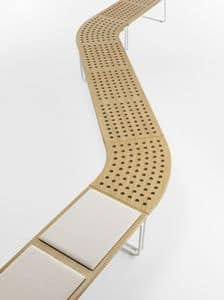Maki, Modular bench system, also for outdoors