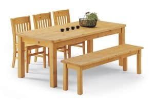 Collection Bench Legs, Bench table fully pine, for log houses