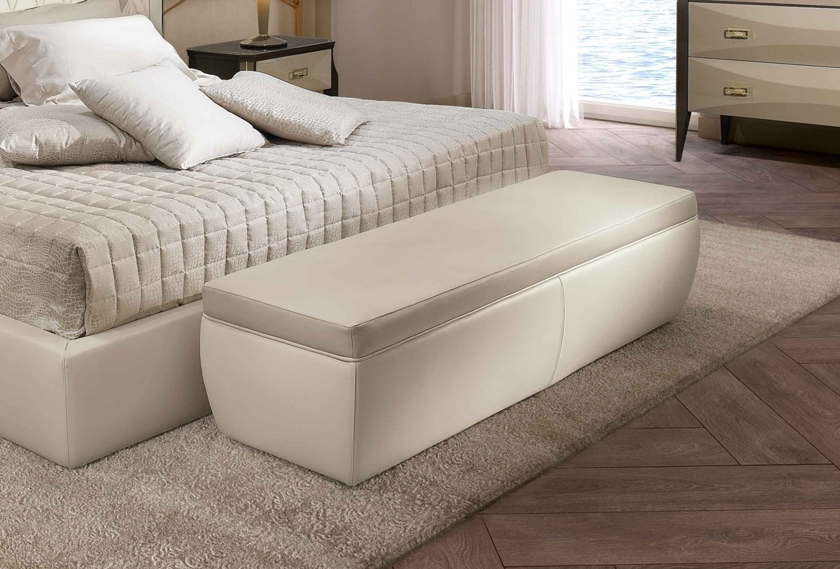 ART. 3355, Leather bench for bedroom