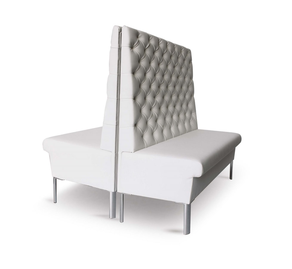 Art. 722/6 Panka Soft with feet, Padded bench with high backrest