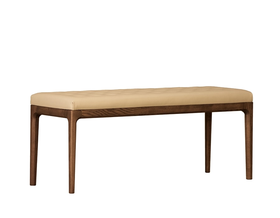 Bellagio 5334/F, Padded bench in ash wood