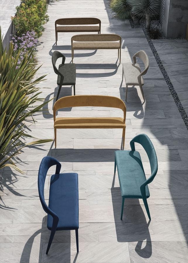 DENVER 140 / 110, Fully upholstered bench