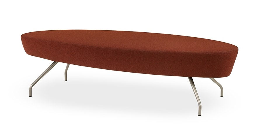 ELIPSE 2P, Modern bench with circular seat, for reception