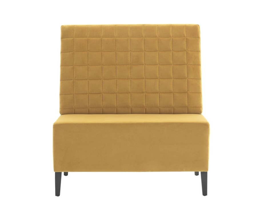 Linear 02451Q, Bench with square tufted backrest