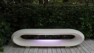 Loop Light, Garden bench with led light