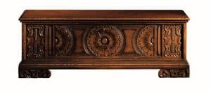 Pitigliano ME.0812, Siena chest in carved walnut, for classical villas