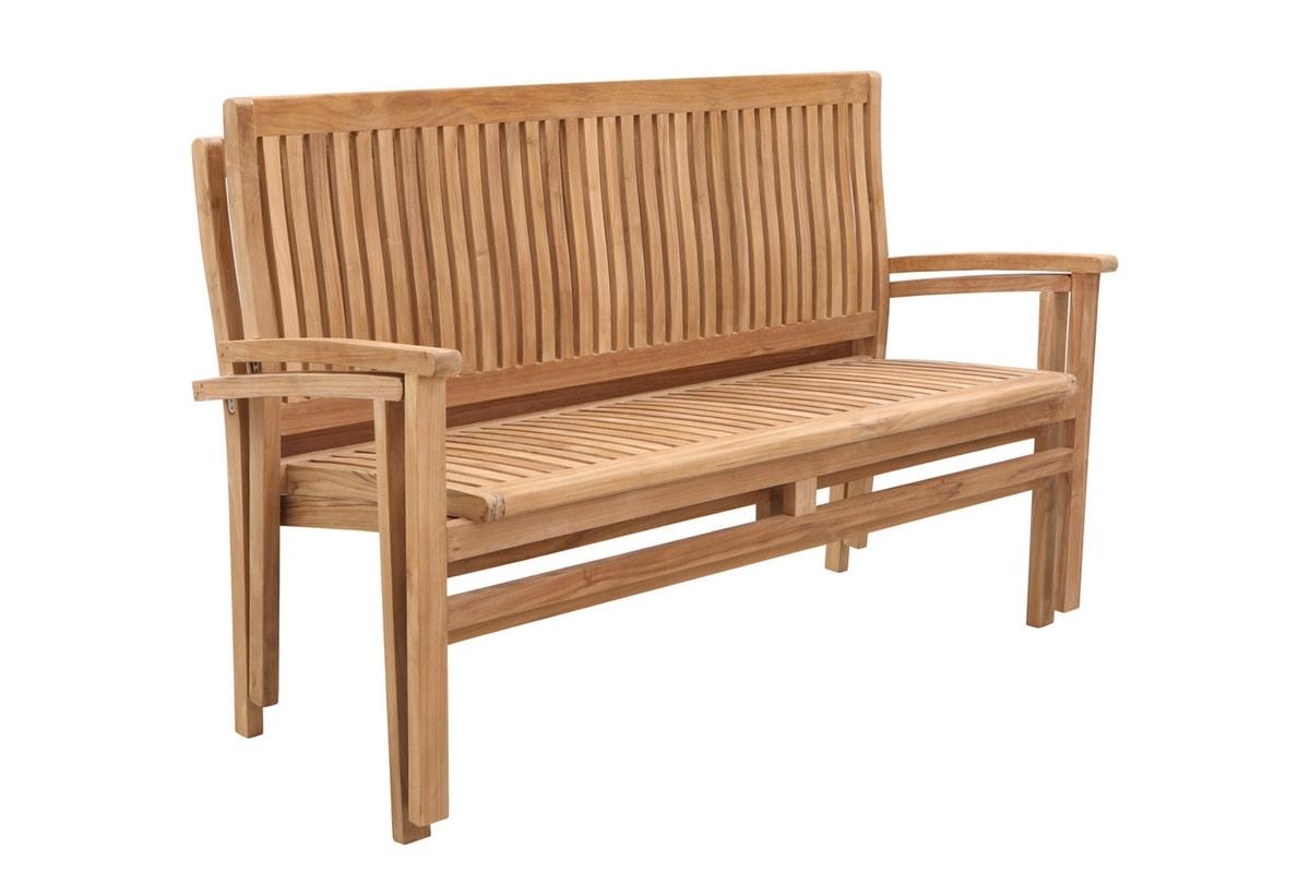Savana 0209, Stackable wooden bench, for garden