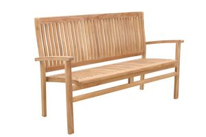 Savana 0209, Stackable wooden bench, for garden