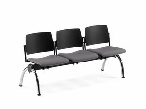 TEOREMA, Bench with padded seat, for waiting rooms