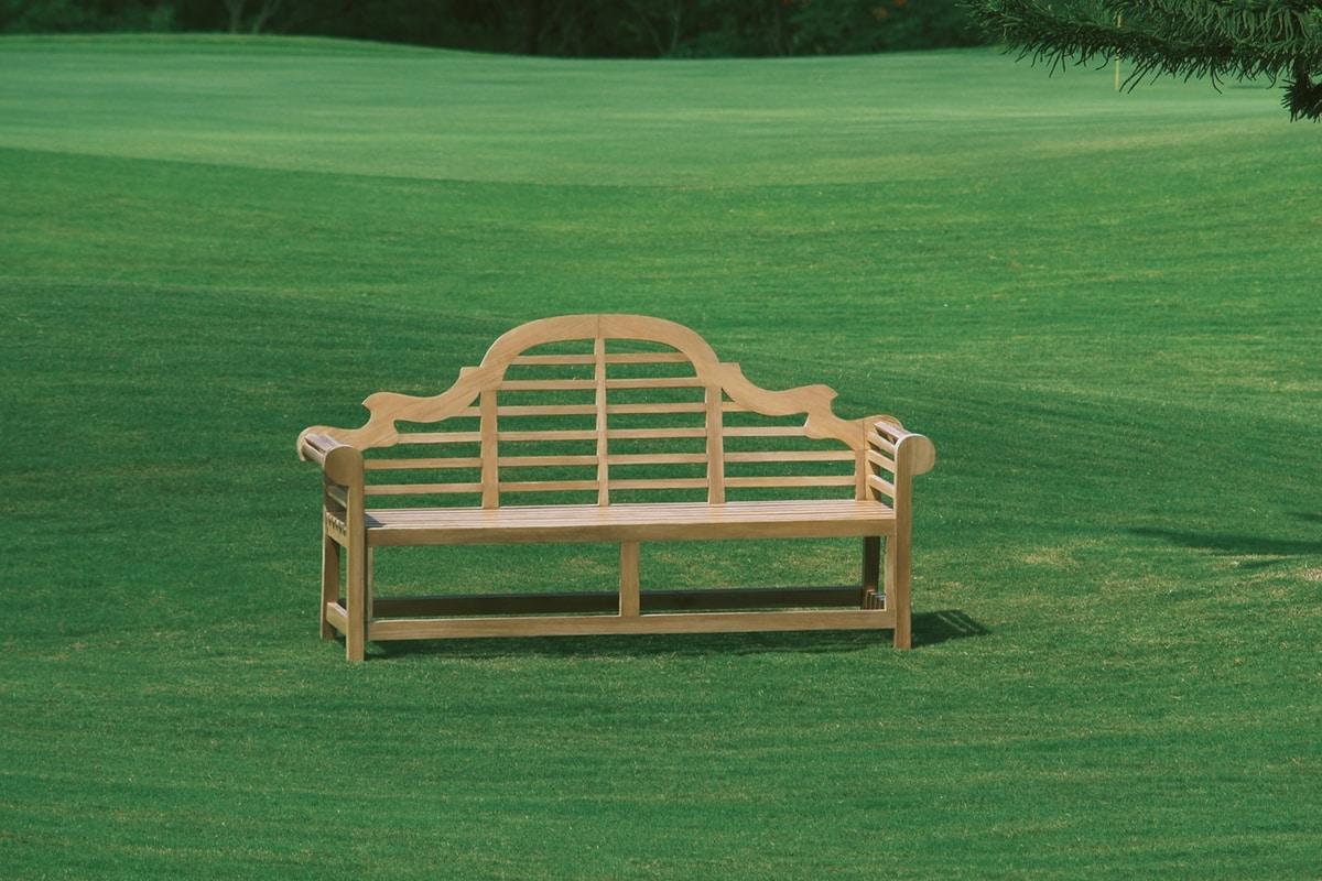 Vittoria 0207, Elegant wooden bench for gardens