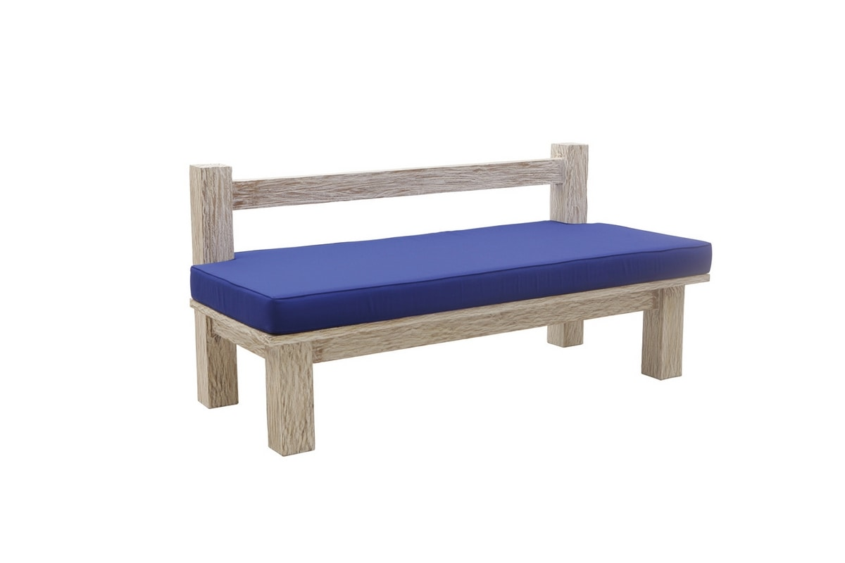 White Sand 6201, Bench with two seats in solid teak
