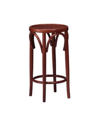 125, Stool with round seat, curved wood, for restaurant