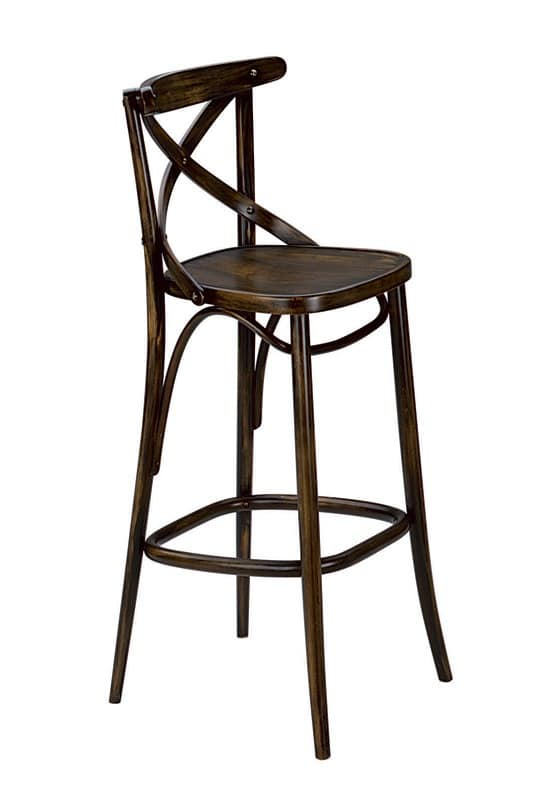 Golia SG, Barstool in bentwood, for pubs and taverns