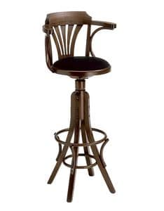 Nelson, Swivel stool in curved wood for pub and beer house