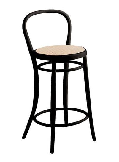 SG/03CC, Vienna style stool with wooden structure