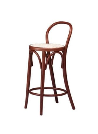 V05, Wood barstool, seat in straw of vienna, for Wine bars