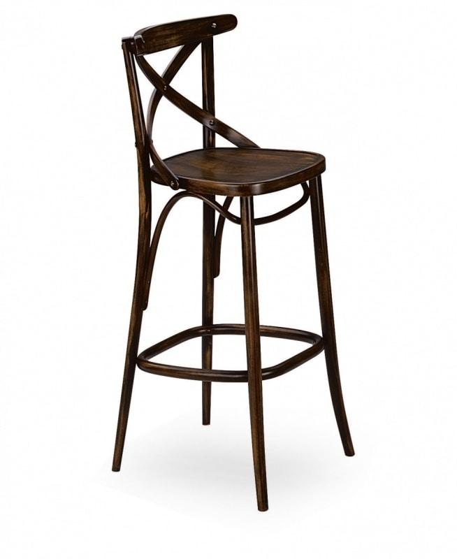 V15SG, White wooden stool