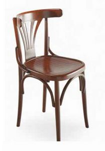Strauss, Chair in curved wood, Viennese style