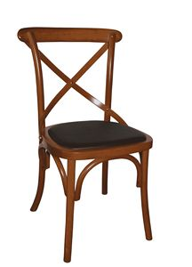 V17, Bentwood chair with upholstered seat