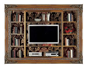 4027B, Built-in bookcase with TV stand