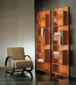 4306 Harlem, Wall bookcase in wood