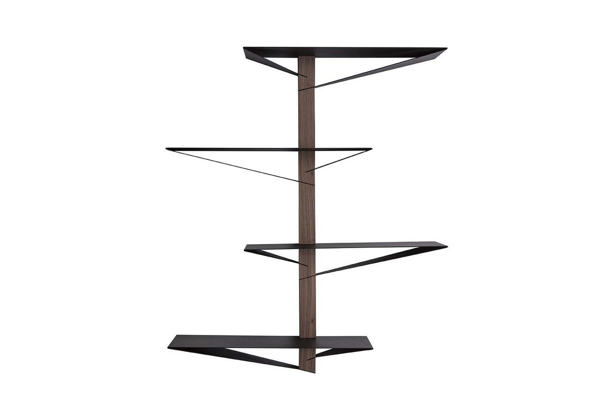 ALBATROS  libreria, Bookcase with shelves in painted metal and wooden structure