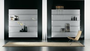 ALL comp.08, Composition of shelves for the modern home, in aluminum
