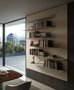 ALL comp.12, Wall bookcase with aluminum shelves