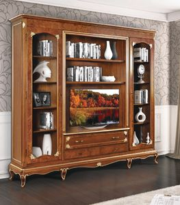 Art. 3002, Classic bookcase, with TV stand