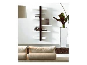 ART. 750 EMOTION, Wall bookshelf in wood, at outlet price