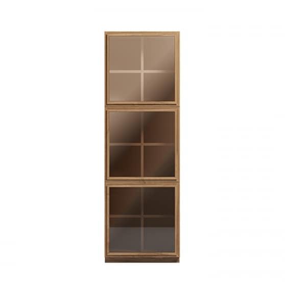 Atlantic bookcase 3 doors, Vertical bookcase, with glass doors