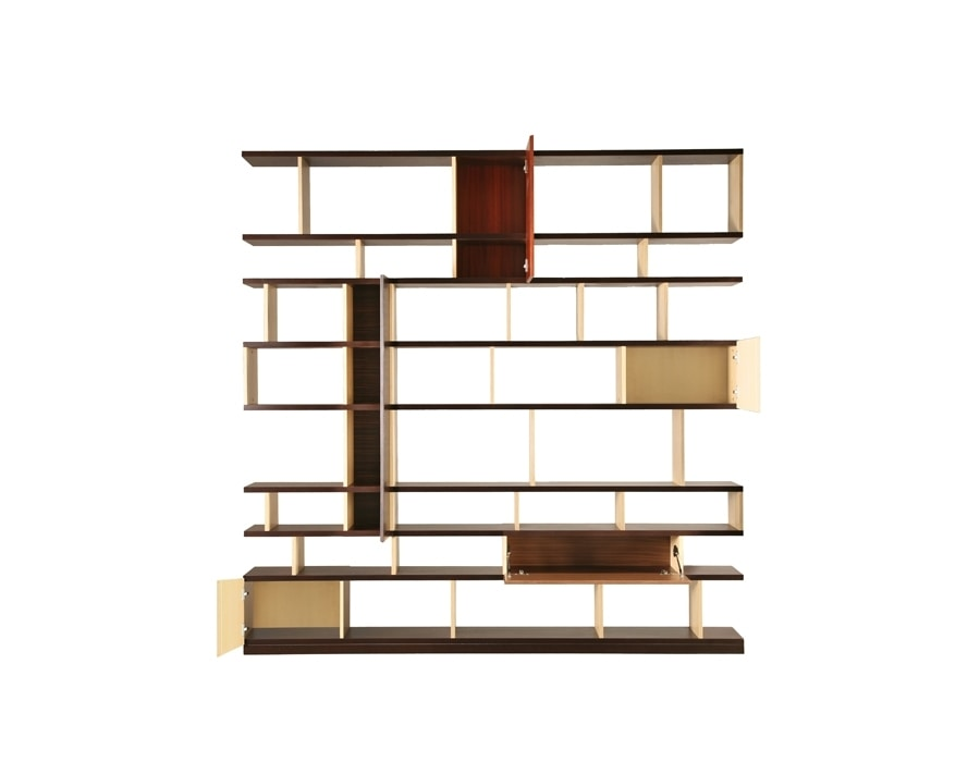 Babilonia 6292, Wooden bookcase with a mix of essences
