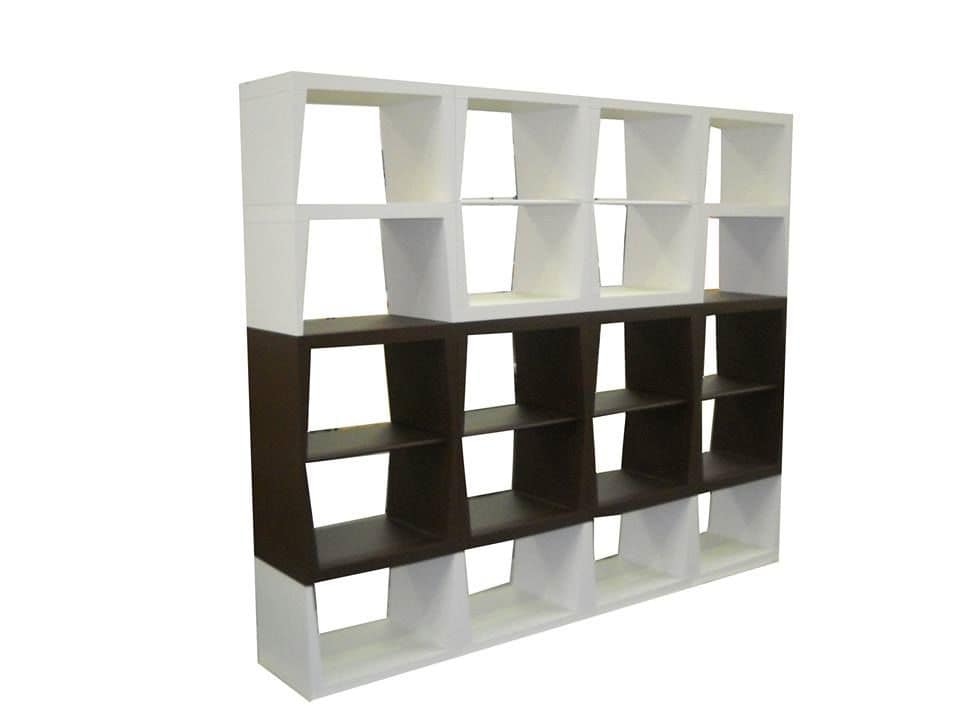 B&B, Modular bookcase, wooden shelves, ideal for residential use