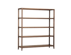 Bellagio 6201/F, Wooden bookcase with glass or stone shelves