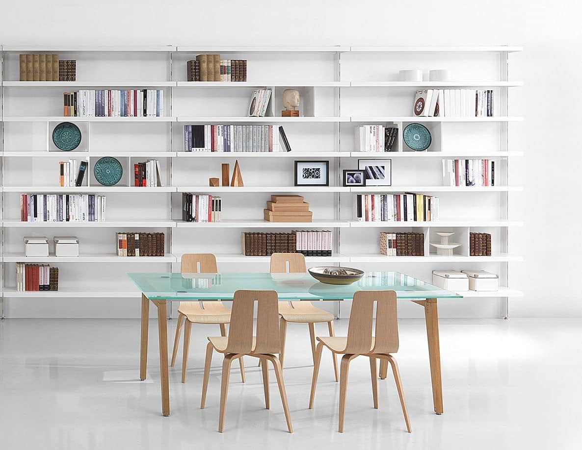 Big, Libraries contemporary in aluminum, for homes and offices