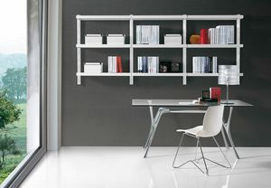 Big wall unit, Modern library for the office and home