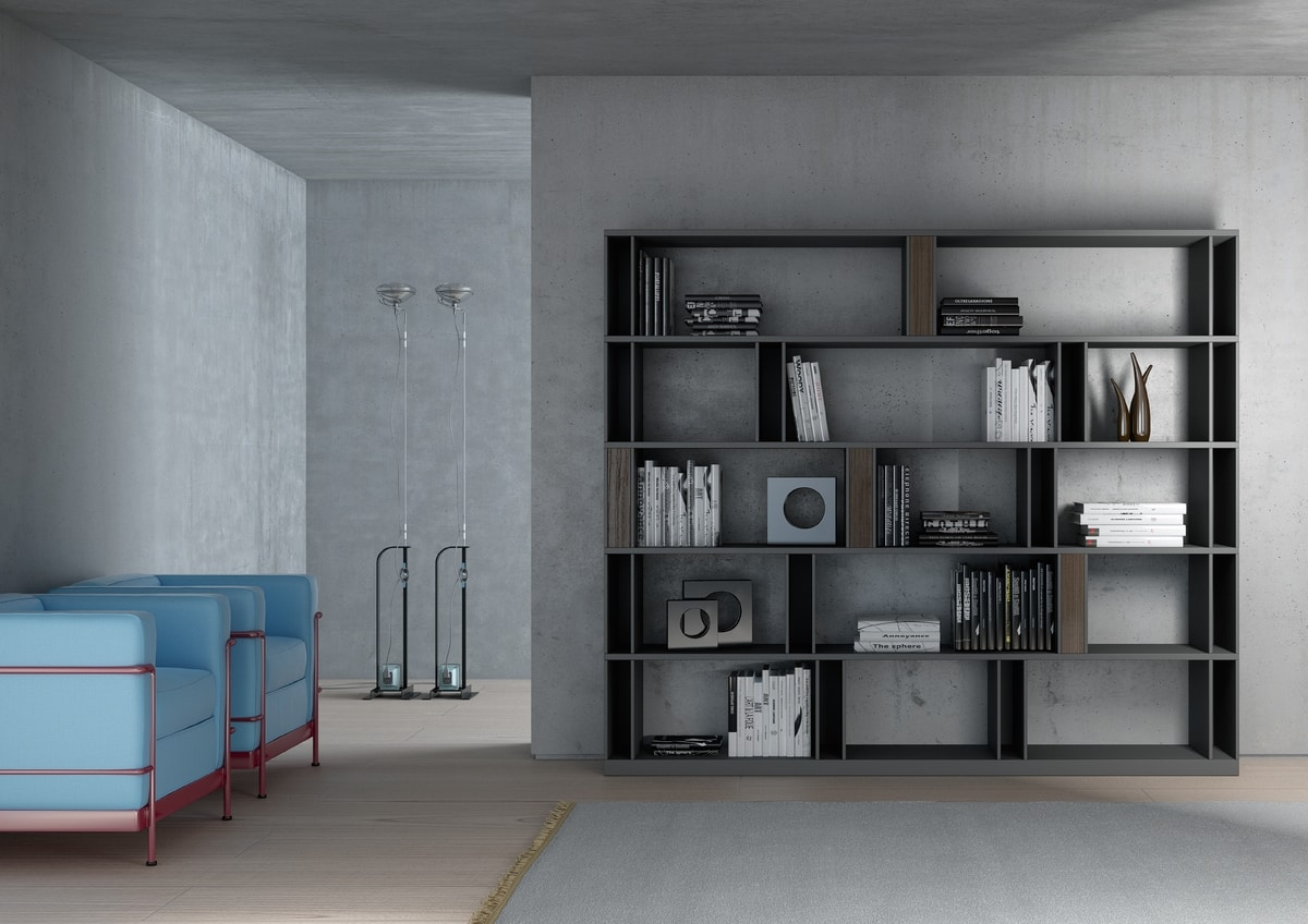 BRERA comp.01, Library of high design with double side, customizable