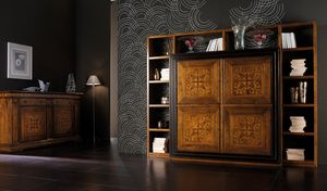 Ca' Venier Art. CV1006, Bookcase in solid walnut