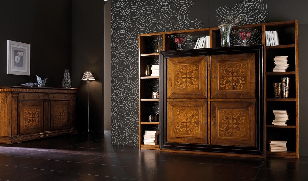 Ca' Venier Art. CV1006, Bookcase in solid walnut