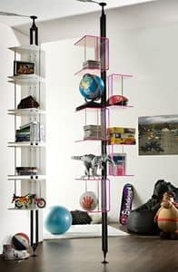 Carpe Diem, Bookcase in lacquered metal, with different finishes