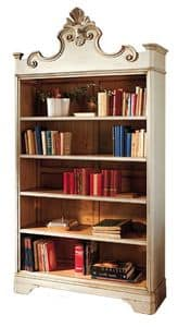 Catherine BR.0052, Lacquered bookcase, with 4 adjustable shelves