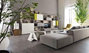 Citylife 16, Modern library for living rooms, customizable