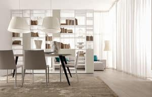 Citylife 22, Double-sided bookcase, for living rooms and dining rooms