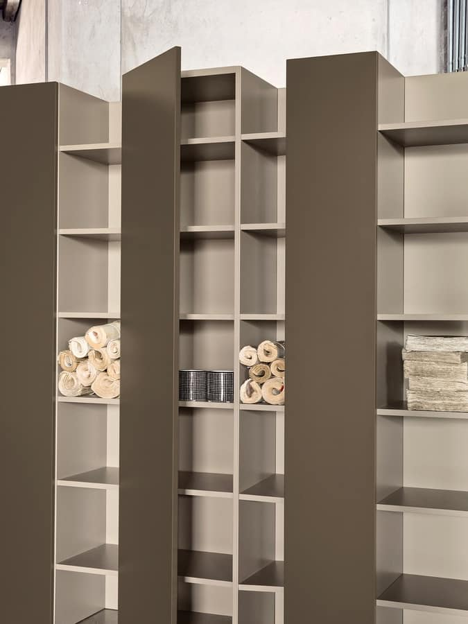 CODE comp.01, Precious bookcase, with doors, for luxury hotels