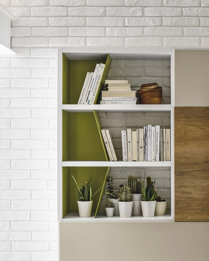 Comp. A036, Bookcase with hidden desk